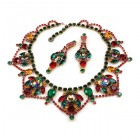 Roxanne Necklace Set with Earrings ~ Vitral Multicolor