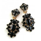Fatal Passion Earrings Clips-on ~ Black