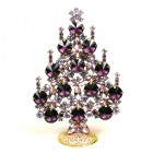 Rivoli Xmas Stand-up Tree 13cm ~ Purple Violet