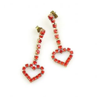Red Hearts #2 ~ Pierced Earrings