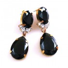 Effervescence Earrings for Pierced Ears ~ Black