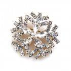 Snowflake Pin ~ Clear Crystal #6