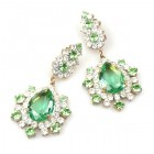Infinite Dream Earrings Pierced ~ Green