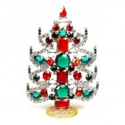 Xmas Tree Standing Decoration 2018 #19 ~ Emerald Clear Red