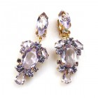 Raquel Earrings Clips ~ Violet