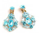 Fatal Touch Earrings Clips-on ~ Aqua