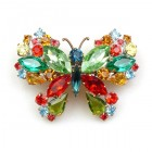 Multicolor Butterfly ~ Barrette Hairclip #1