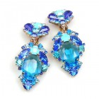 Mythique Extra Clips-on Earrings ~ Aqua Blue