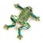 Froglet Pin ~ Emerald Green