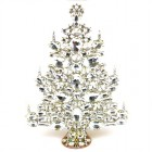 13 Inches Giant Xmas Tree with Ovals ~ Clear Crystal