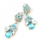 Parisienne Bloom Earrings Clips ~ Icy Frost