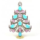 Xmas Tree Standing Decoration 2019 #02 ~ Aqua Pink Clear