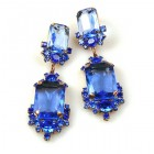 Pearlesque Earrings Pierced ~ Blue Flood