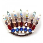 Crown of King Brooch ~ Multicolor