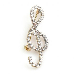 Treble Clef Small ~ Crystal