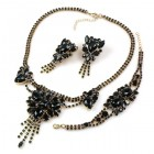 Iridescence Set with Bracelet ~ Black