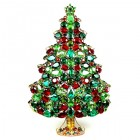 Extra Tall Huge 3 Dimensional Xmas Tree ~ Red Green Emerald