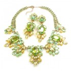 Iris Grande Necklace Set ~ Lime and Yellow