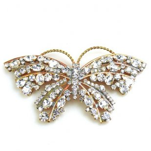 Vanessa Butterfly ~ Clear Crystal