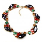 Brilliant Dew Necklace ~ Purple and Multicolor