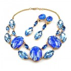 Lucrecia Necklace with Earrings ~ Blue