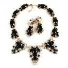Mythique Set ~ Black and Clear Crystal
