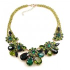 Parisienne Bloom Necklace ~ Green Tones
