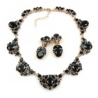 Lite Iris Necklace Set ~ Black