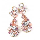 Penelope Earrings Pierced ~ Pink