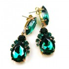 Mon Cheri Earrings Pierced ~ Emerald