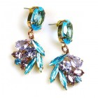 Close to Heaven Pierced Earrings ~ Violet Aqua