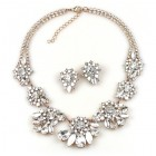 Parisienne Bloom Lite Set with Earrings ~ Crystal White