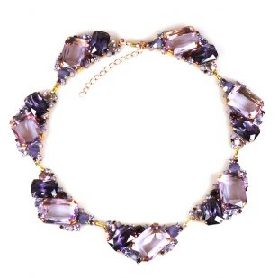 Pearlesque Necklace ~ Violet Mood