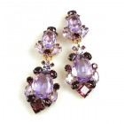 Déjà vu Clips Earrings ~ Violet Purple