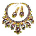 Absolue Necklace Set with Earrings ~ Vitrail