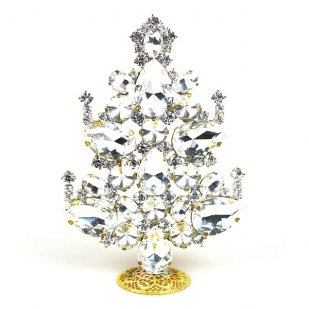 2019 Xmas Tree Decoration 14cm Pears ~ Clear Crystal