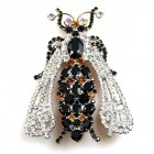 Queen Bee Brooch ~ Black Topaz