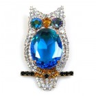 Owl Brooch ~ Blue