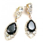Tears Pierced Earrings ~ Crystal Black