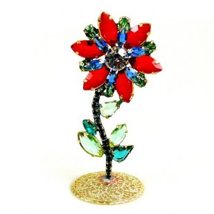Flower Stand Up Decoration ~ Red Blue