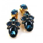 Dramatic Earrings Clips ~ Montana Blue