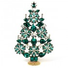 2020 Xmas Tree Stand-up Decoration 22cm ~ Emerald Clear