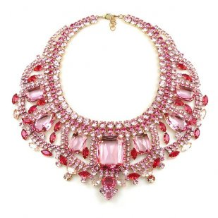 Enchanted Necklace Hot Pink Fuchsia ~ Extra Big