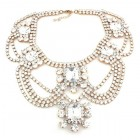 White Romance Necklace ~ Clear Crystal #1