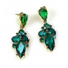 Grace Earrings Pierced ~ Emerald