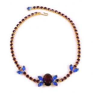 Aztec Sun Choker ~ Purple Blue