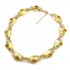 Navette Necklace ~ Yellow Jonquil