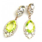 Tears Pierced Earrings ~ Crystal Uranium Yellow