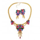 Iridescence Necklace with Earrings ~ Multicolor