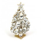 3 Dimensional Large Xmas Tree Decoration ~ Clear Crystal